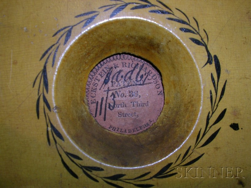 Paint-Decorated and Gilded Wooden Bellows with Philadelphia Maker's Label