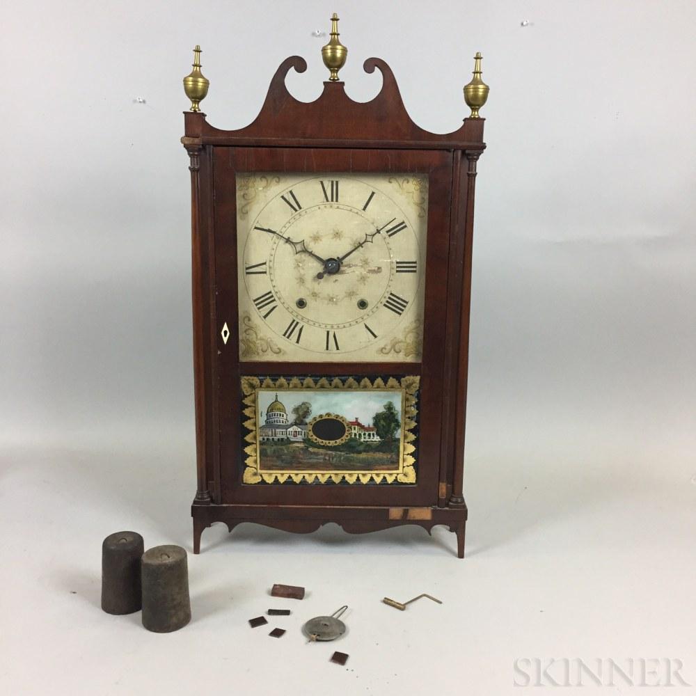 Olcott Cheney Pillar and Scroll Clock