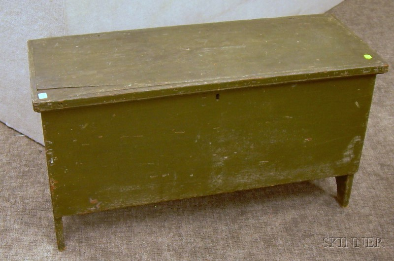 Green-painted Six-Board Chest.