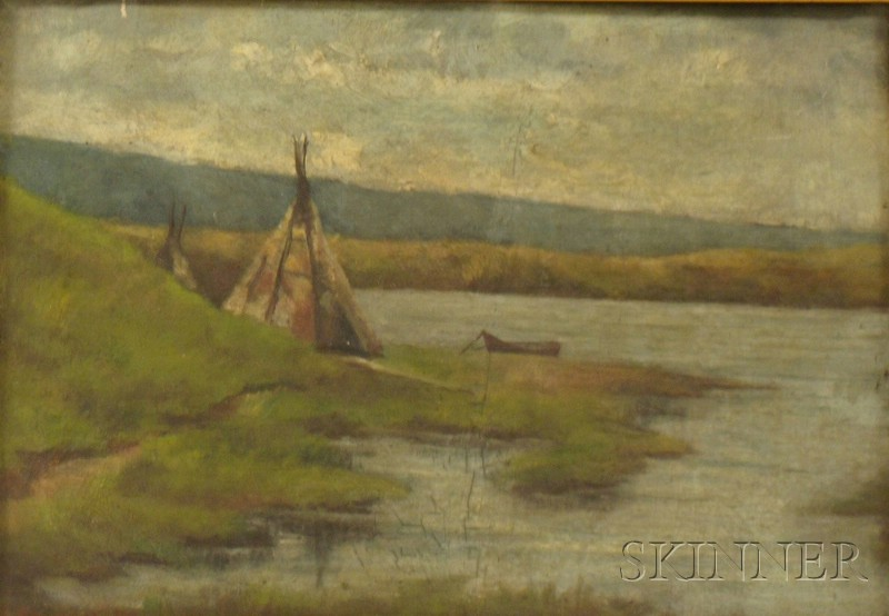 Lot of Two Works,   Moore Smith (American, 19th/20th Century), Early Spring