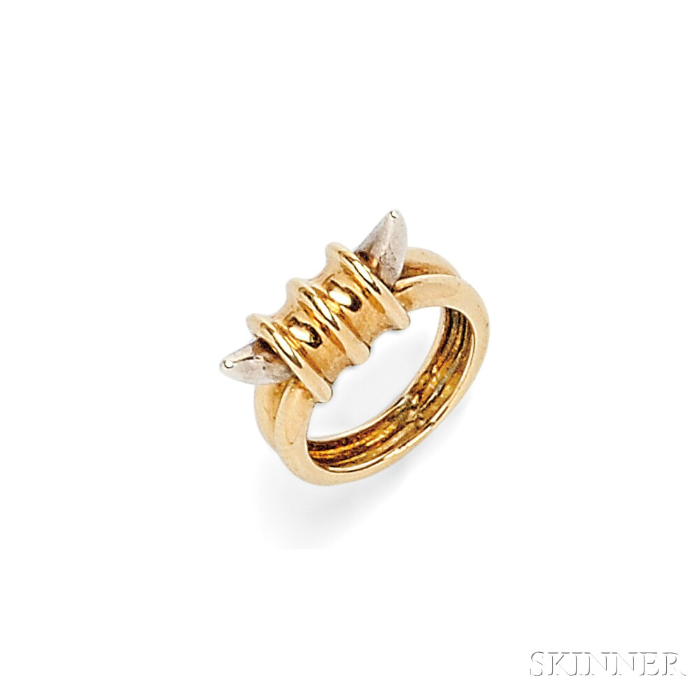 18kt Gold and Silver Ring, Zolotas