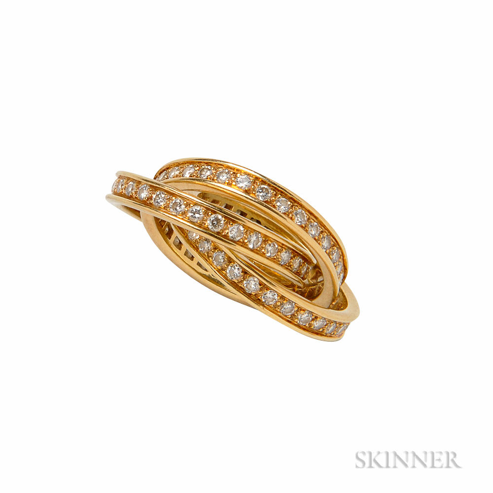 18kt Gold and Diamond Trinity Ring