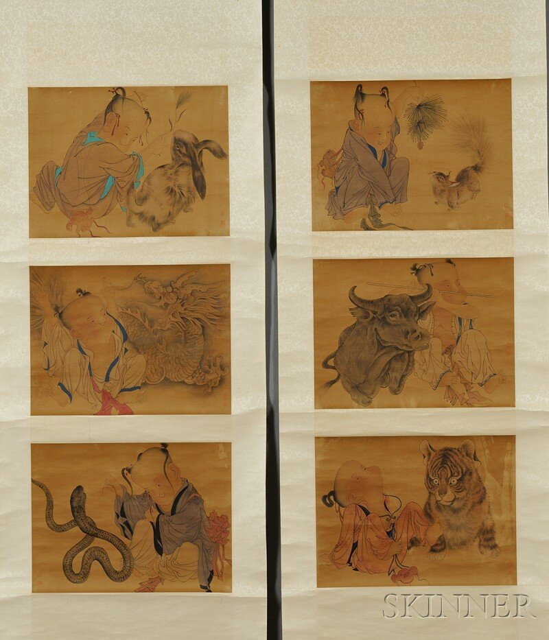 Set of Four Hanging Scrolls