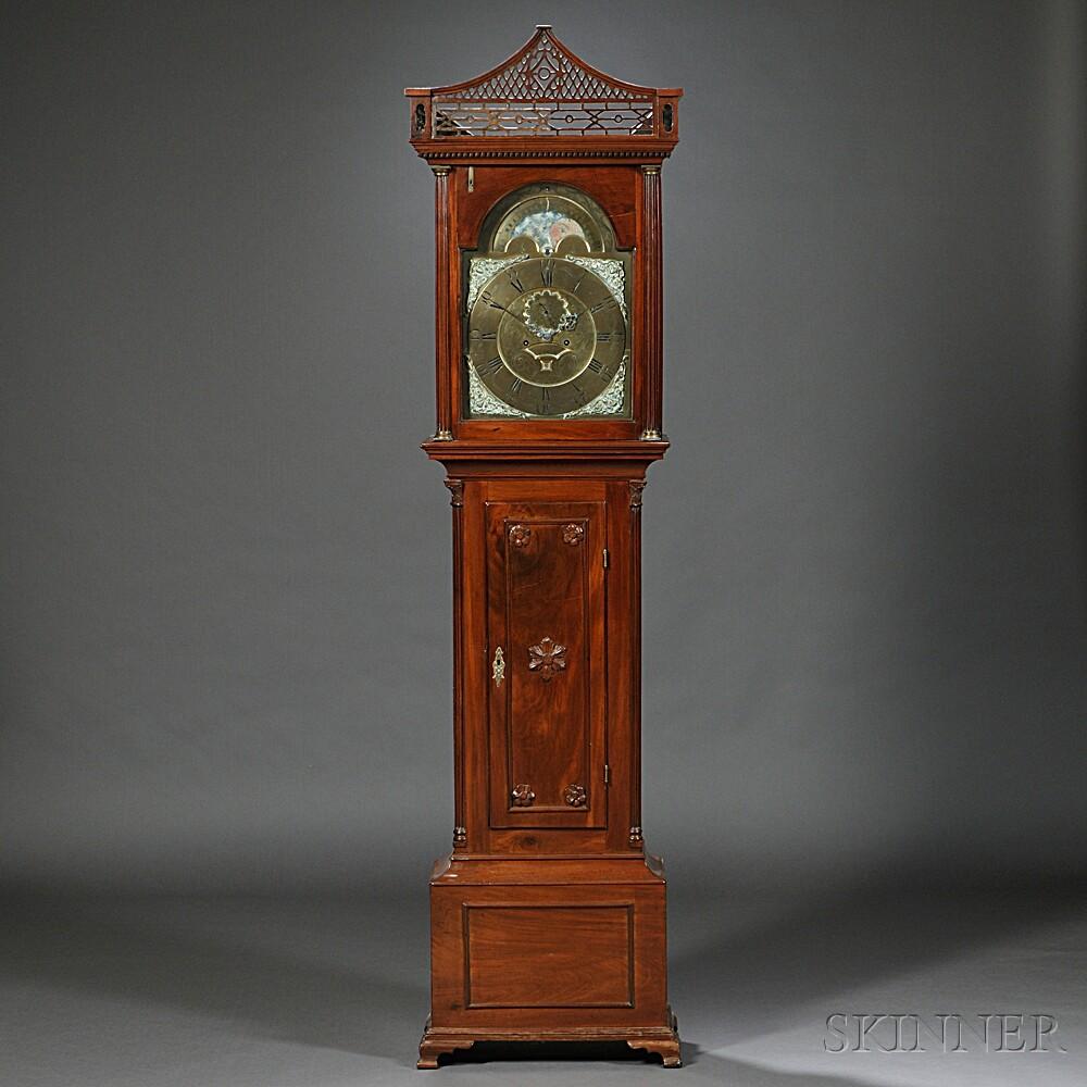 John Hamilton Mahogany Tall Clock