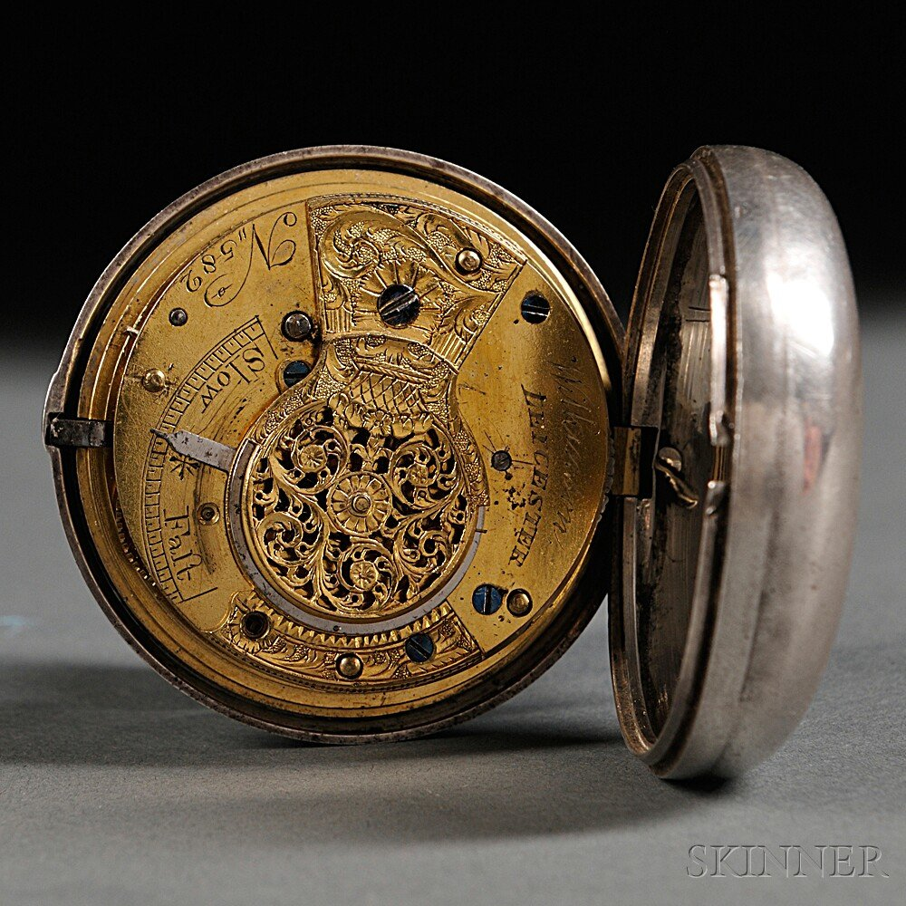 Wilkerson Silver Pair Cased Watch with Masonic Dial