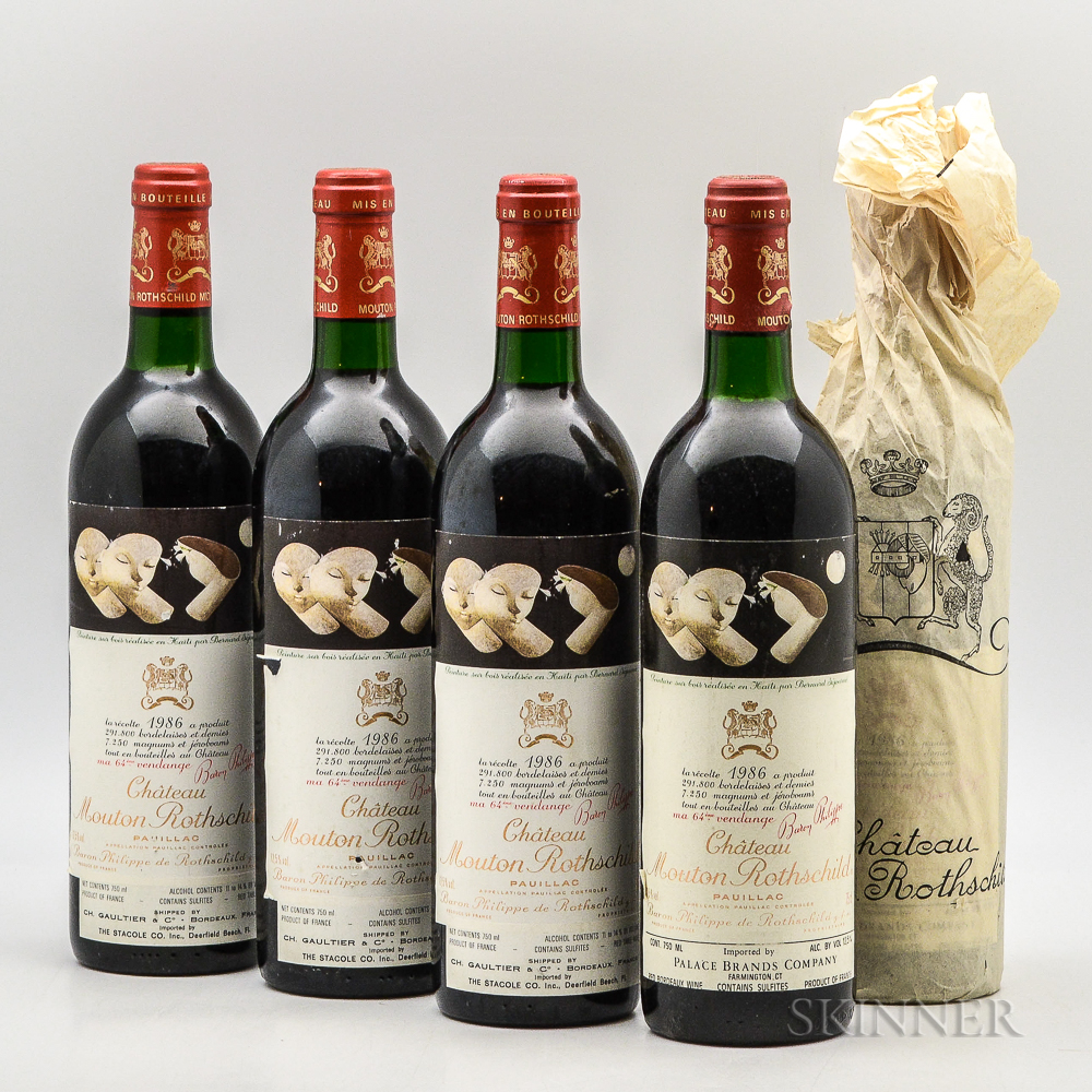 Chateau Mouton Rothschild 1986, 5 bottles