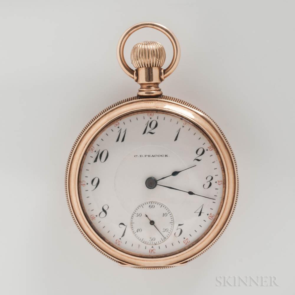 Elgin National Watch Co. 14kt Gold Open-face Watch