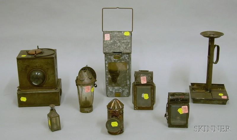Eight Assorted Lanterns