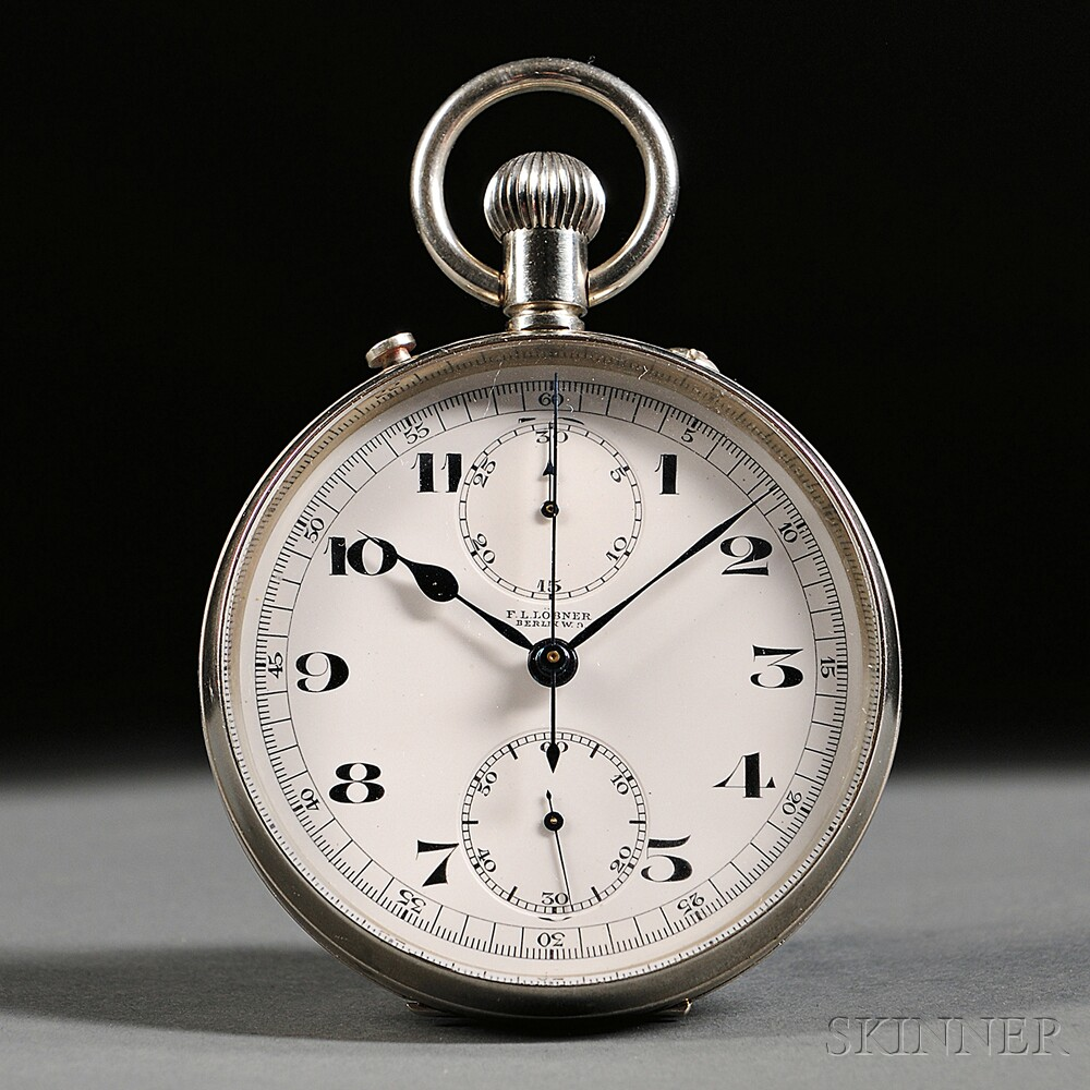 Large Open Face Split Second Chronograph