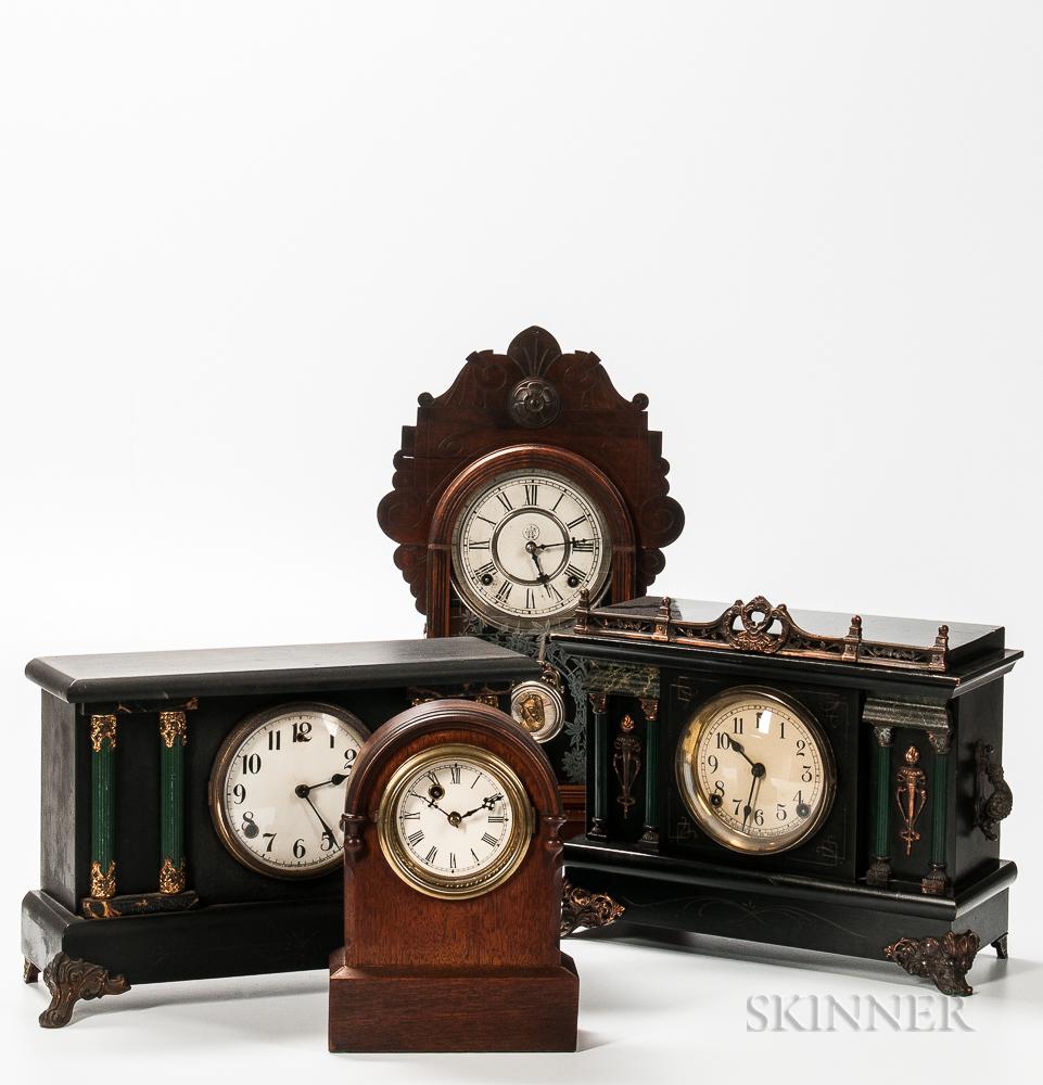 Four American Shelf Clocks