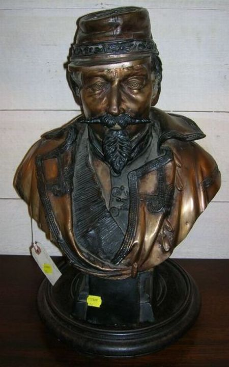 Copper Bust of Civil War General