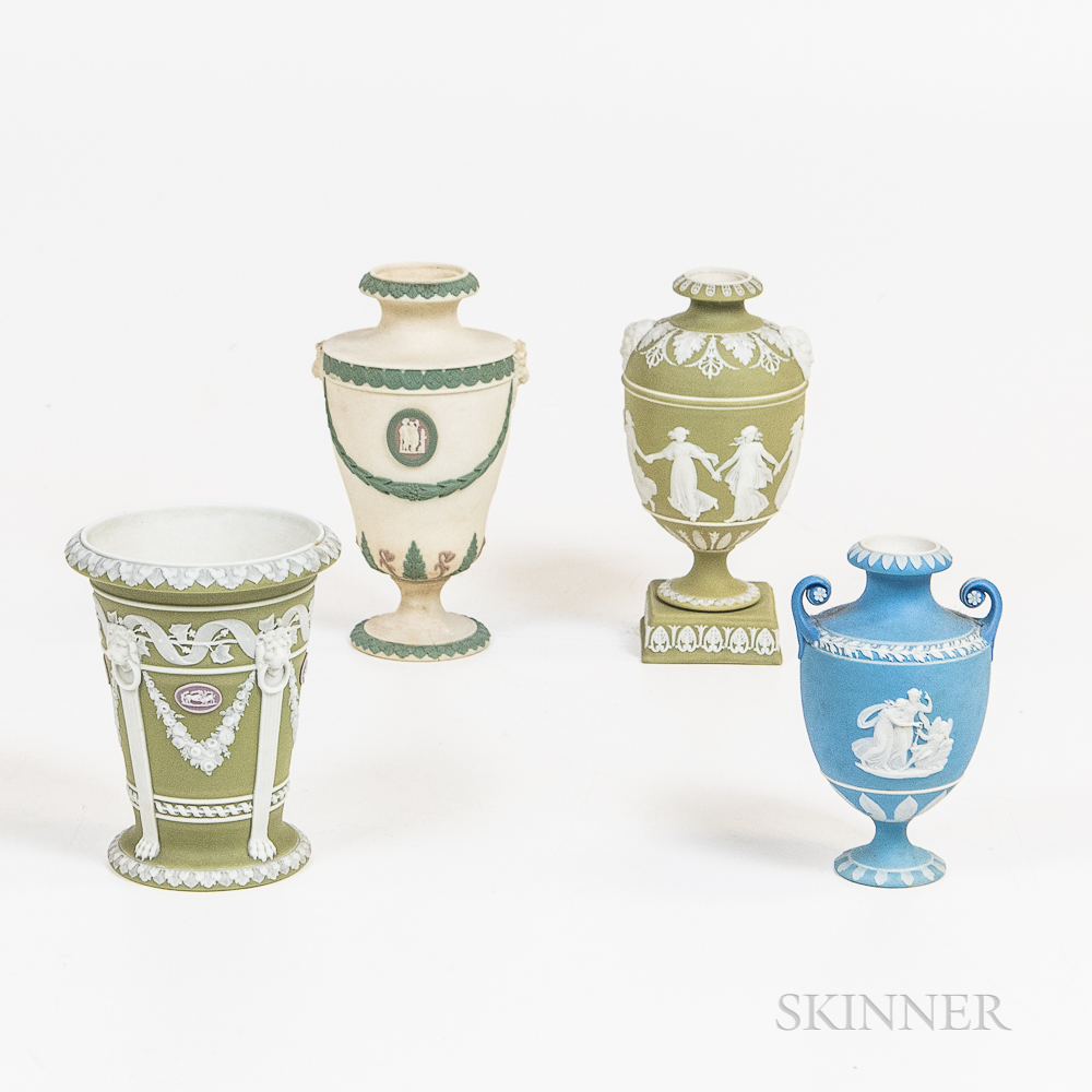 Four Wedgwood Urns and Vases
