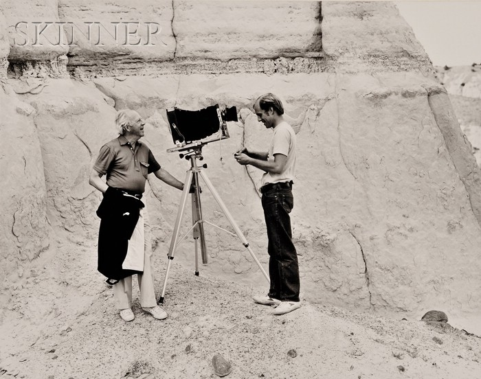 Five Photographs: David Lubbers (American, b. 1947), Willard and Murray Van Dyke, White Cliffs near Abiquiu, New Mexico, August 1981...