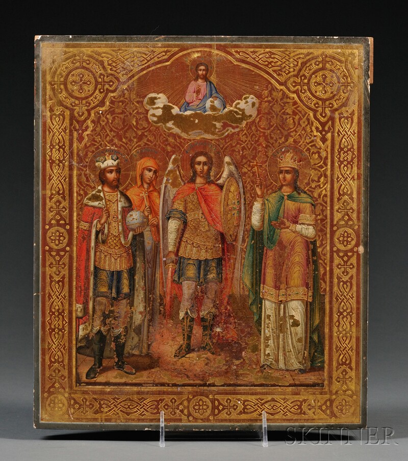 Russian Icon with Archangel Michael