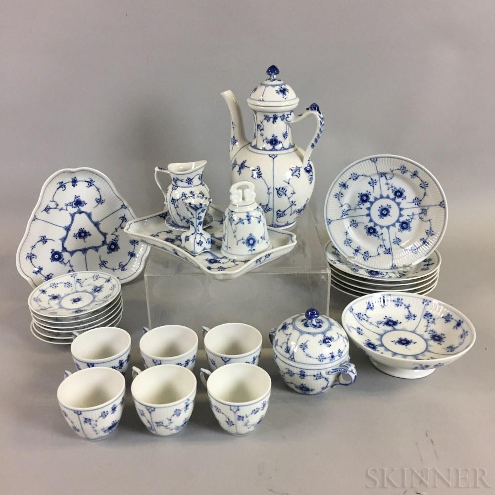 "Twenty-seven Pieces of Royal Copenhagen ""Blue Fluted"" Porcelain Tableware"