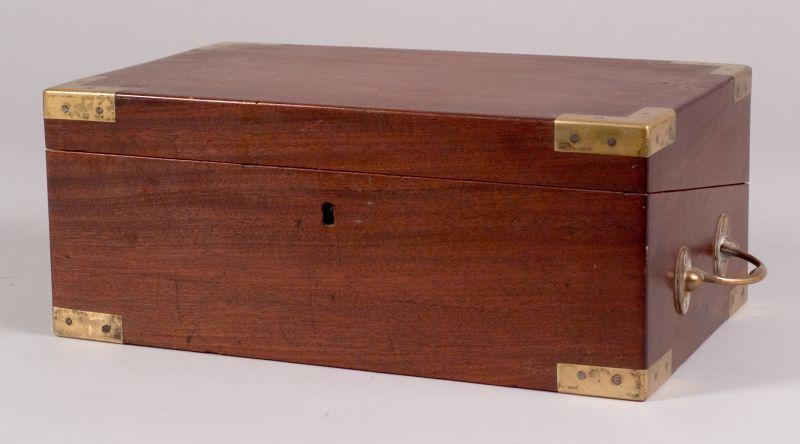 Brass-bound Mahogany Lap Desk
