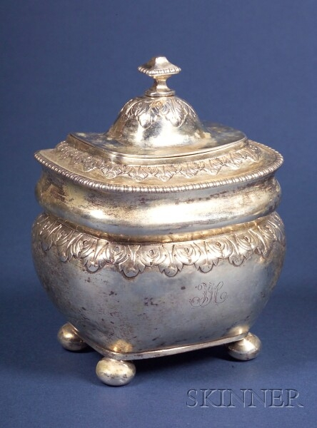 Portuguese Silver Covered Sugar Urn