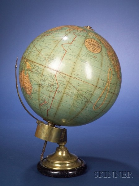 12-inch Globe Timepiece by Johnston