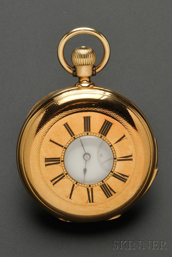 18kt Gold Quarter-Hour Repeating Demi-Hunter Pocket Watch, Patek Philippe