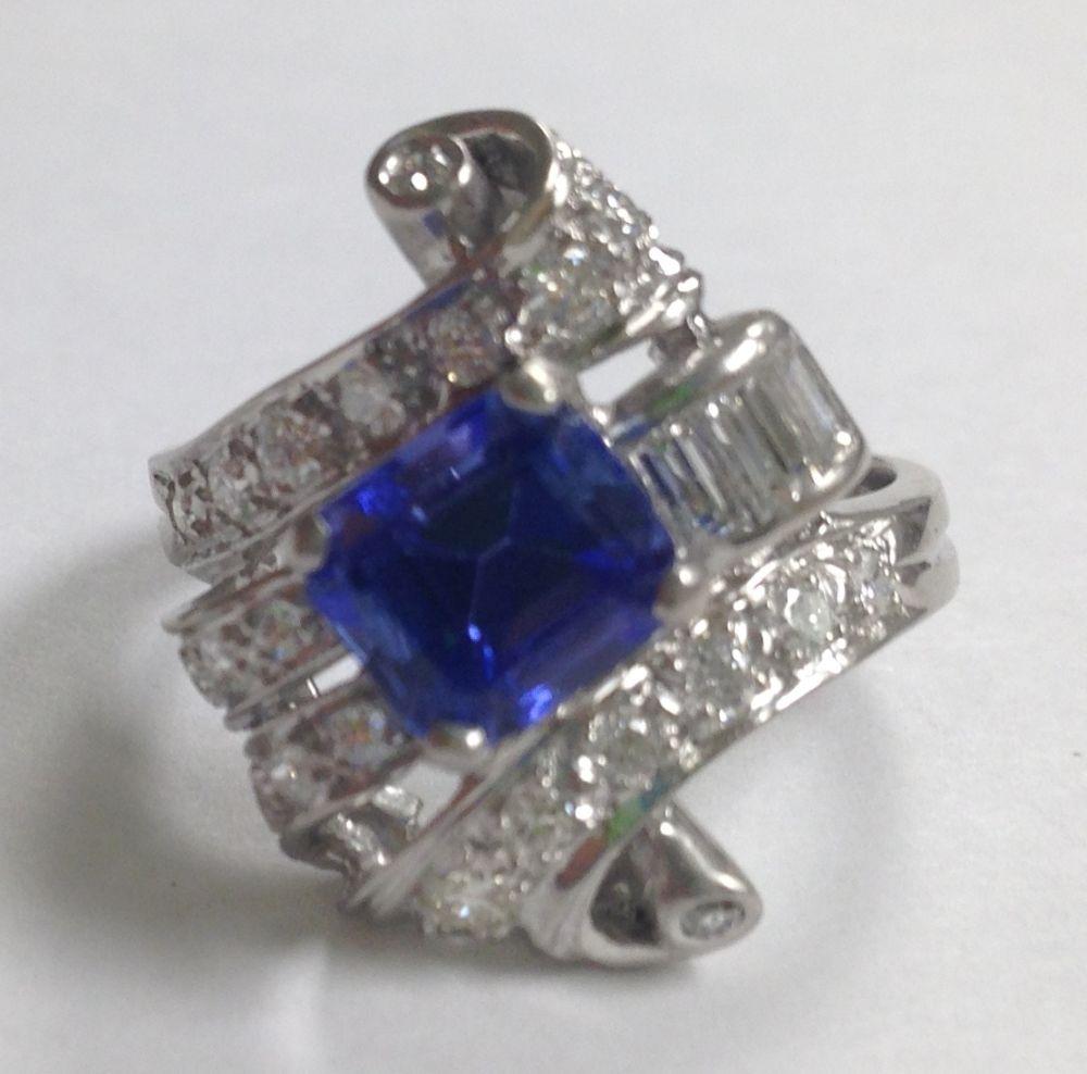platinum tanzanite and ring sale number 2772t