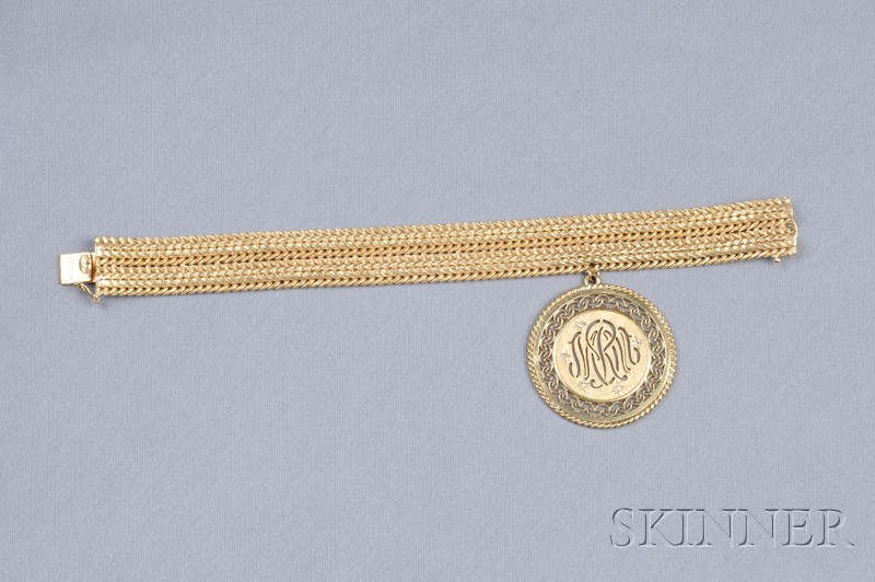 14kt Gold Bracelet and Charm