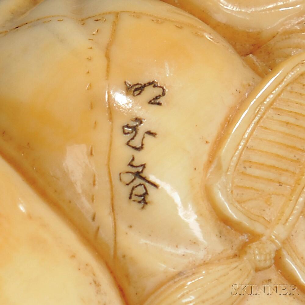 Ivory Netsuke of Hotei