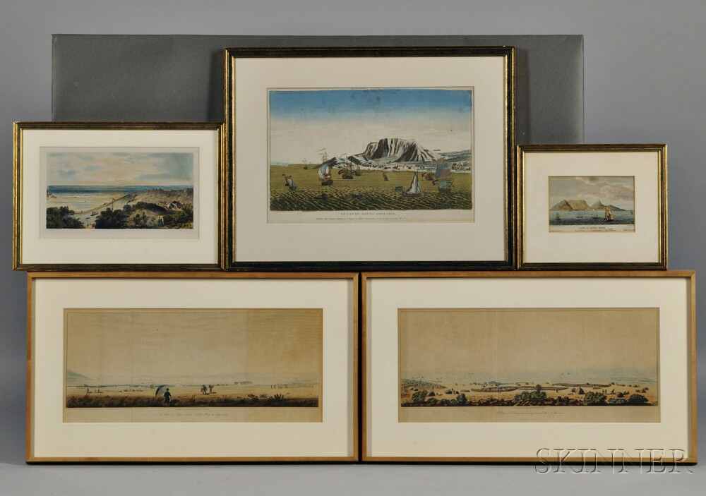 Capetown and the Cape of Good Hope, Five Framed Views.