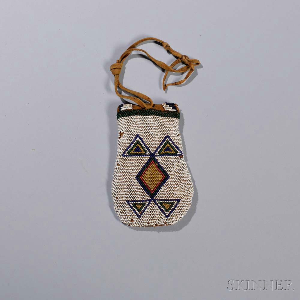 Comanche Beaded Hide Pouch