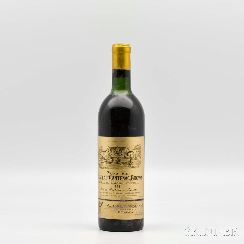 Chateau Cantenac Brown 1959, 1 bottle