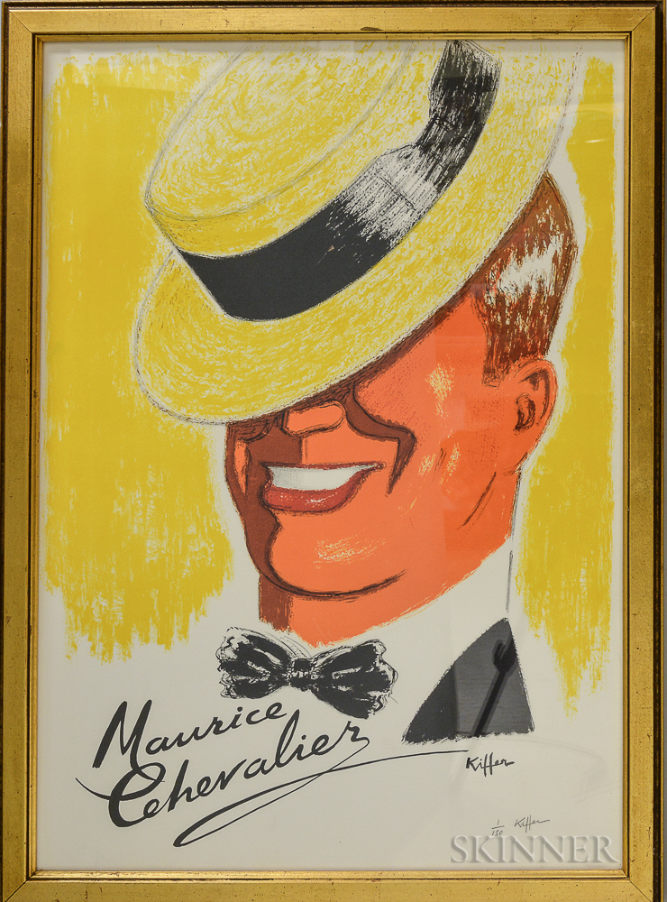 Charles Kiffer (French, 1902-1992)      Two French Singers: Maurice Chevalier