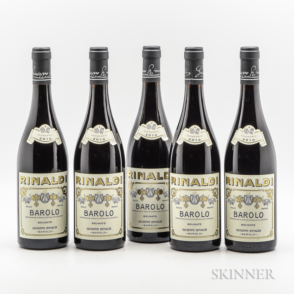 Rinaldi Barolo Brunate 2010, 5 bottles