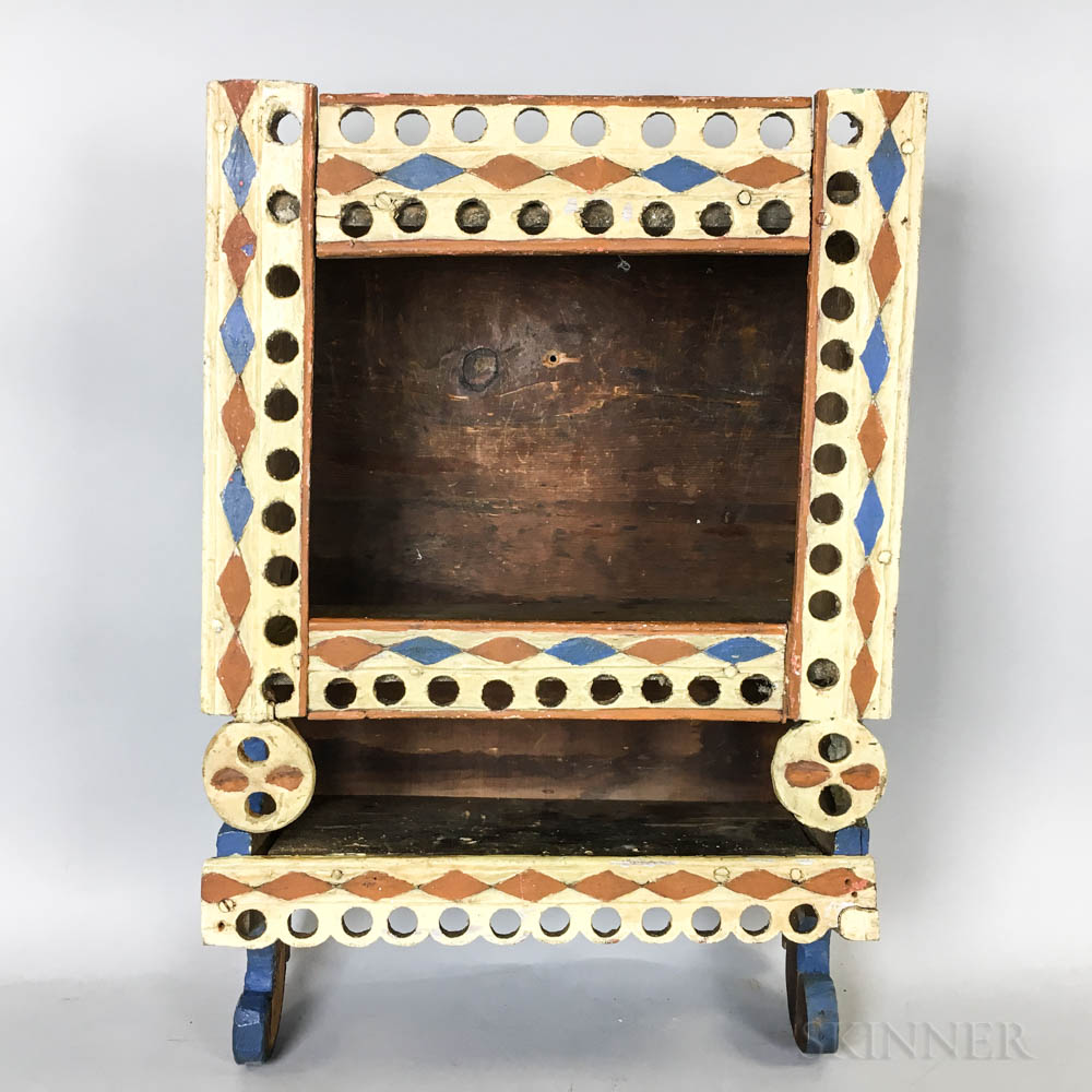 Scandinavian Polychrome-decorated Pine Wall Box