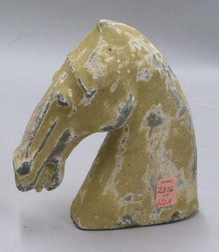 Ceramic Horse Head, China, Han Period.