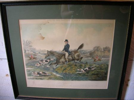 Four Framed British Lithographs