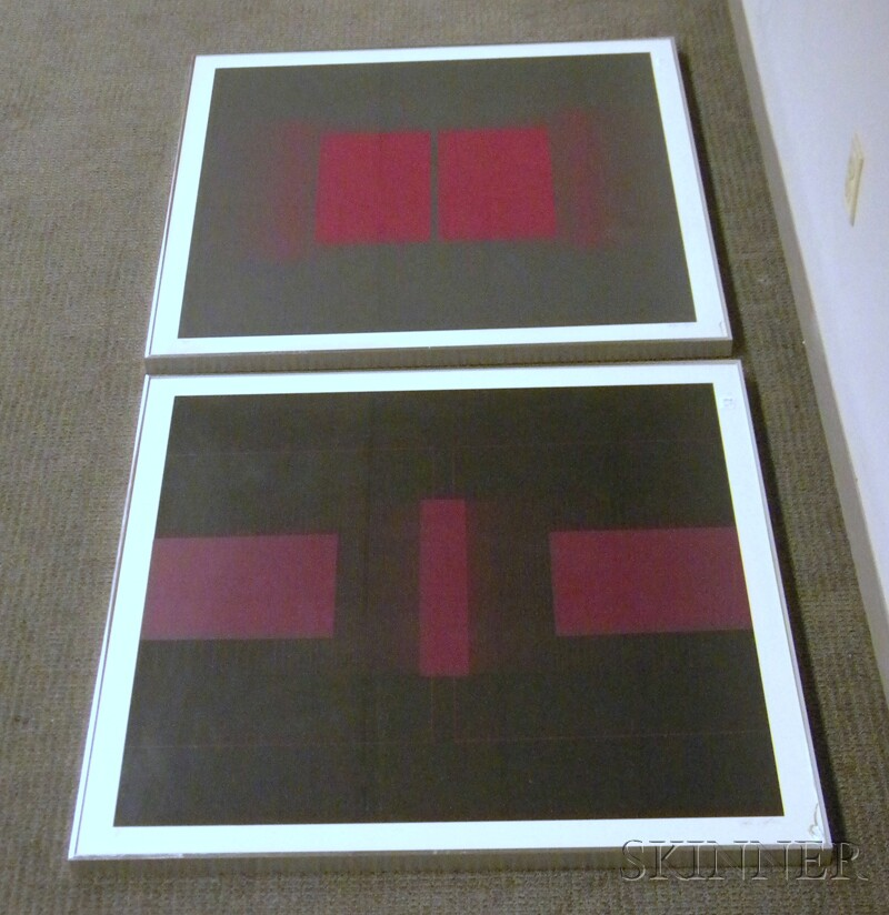 Four Roger Sayer Lithograph Abstract Geometrics