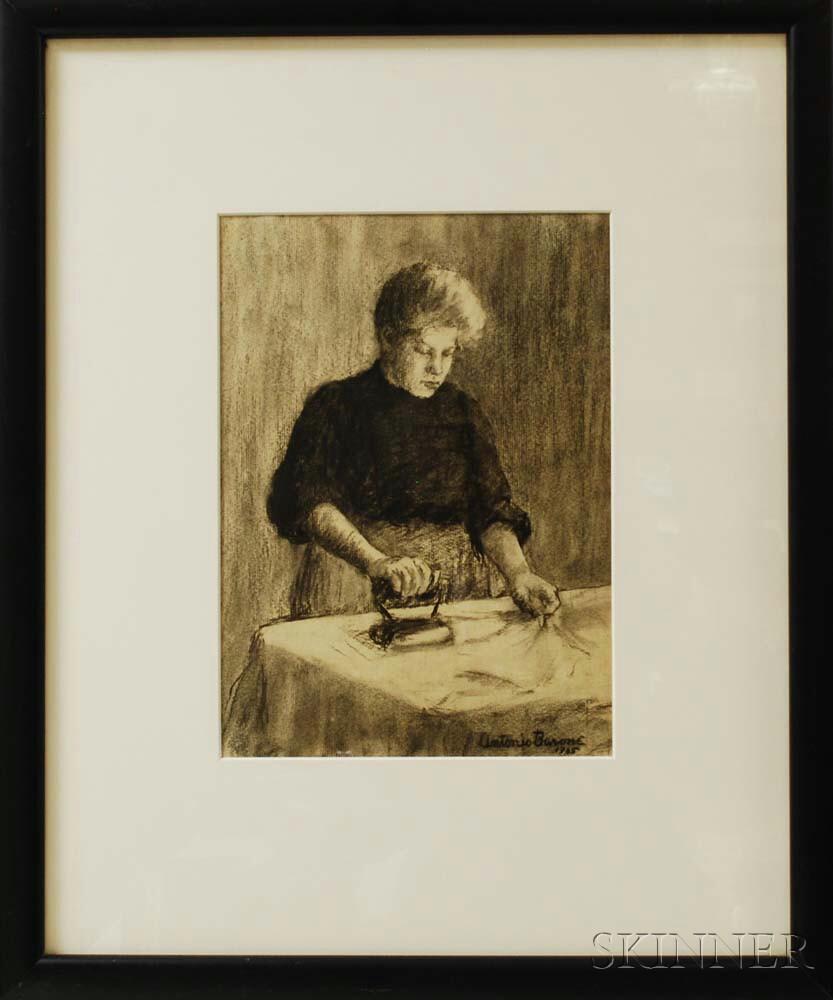 Antonio Barone (American, 1889-1971)      Woman Ironing
