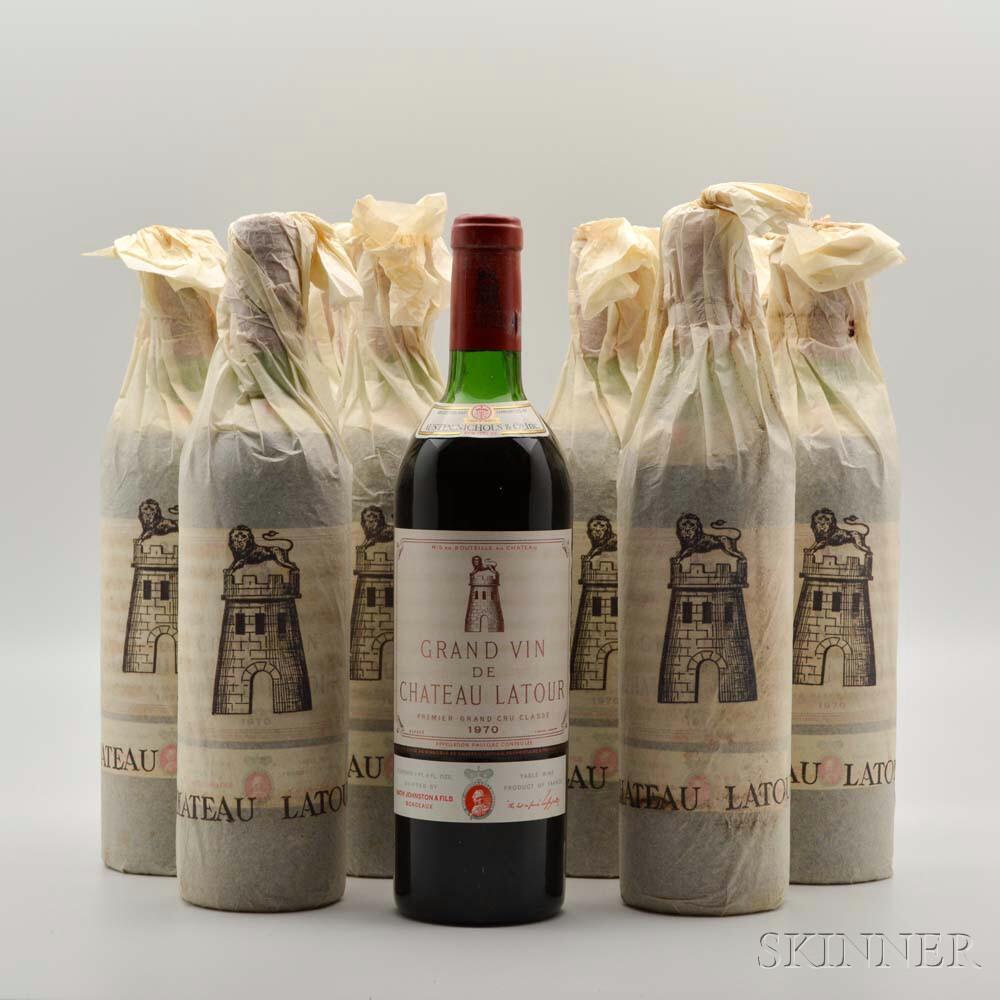 Chateau Latour 1970, 9 bottles