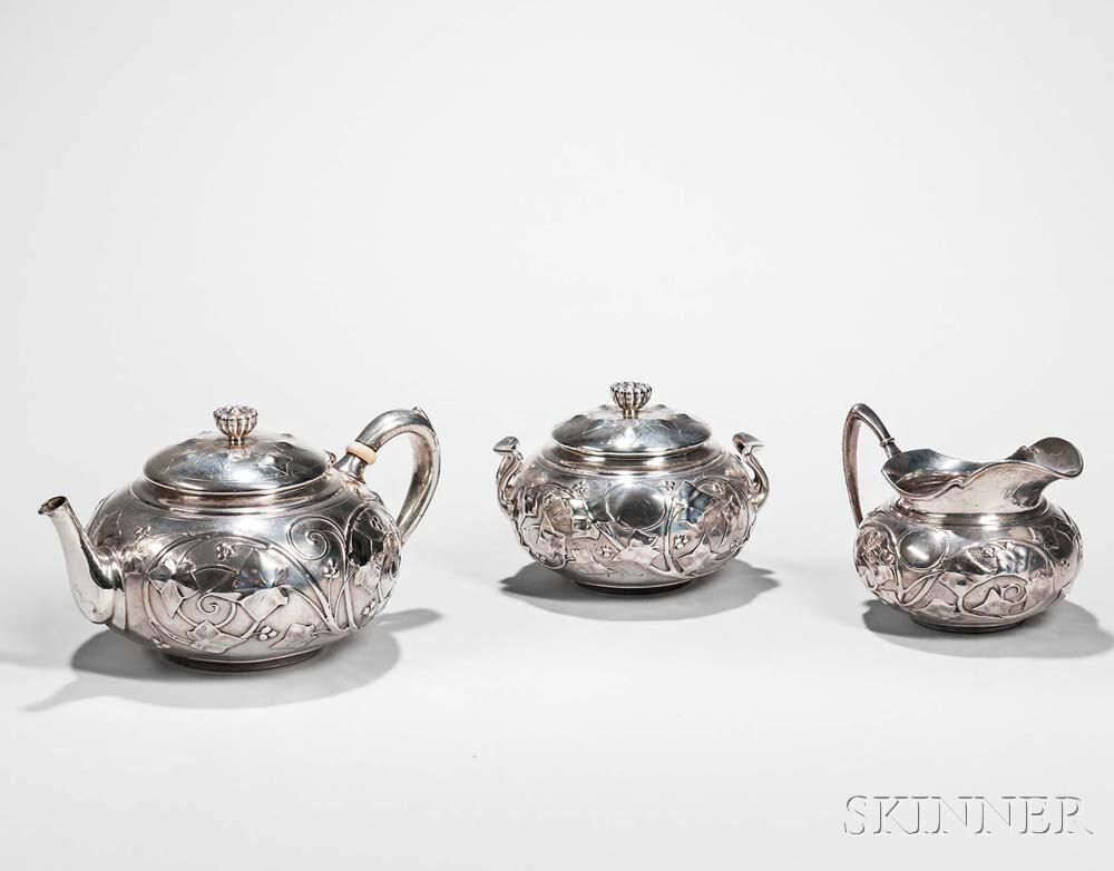 Three-piece Tiffany & Co. Sterling Silver Tea Set