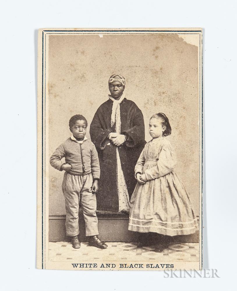 """Carte-de-visite """"White and Black Slaves,"""""""