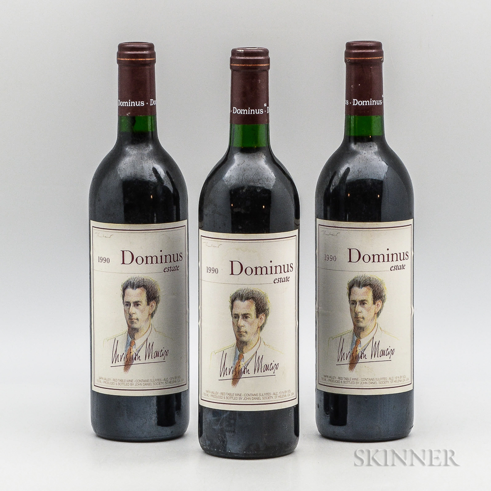 Dominus Estate 1990, 3 bottles