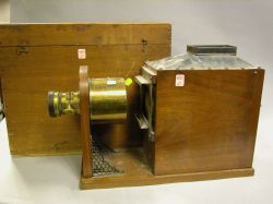 Sidney Herbert Manufactured Mahogany, Brass and Tin Camera