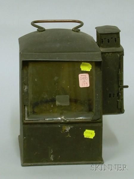 Tin Lantern with Interior Gimbaled Compass.