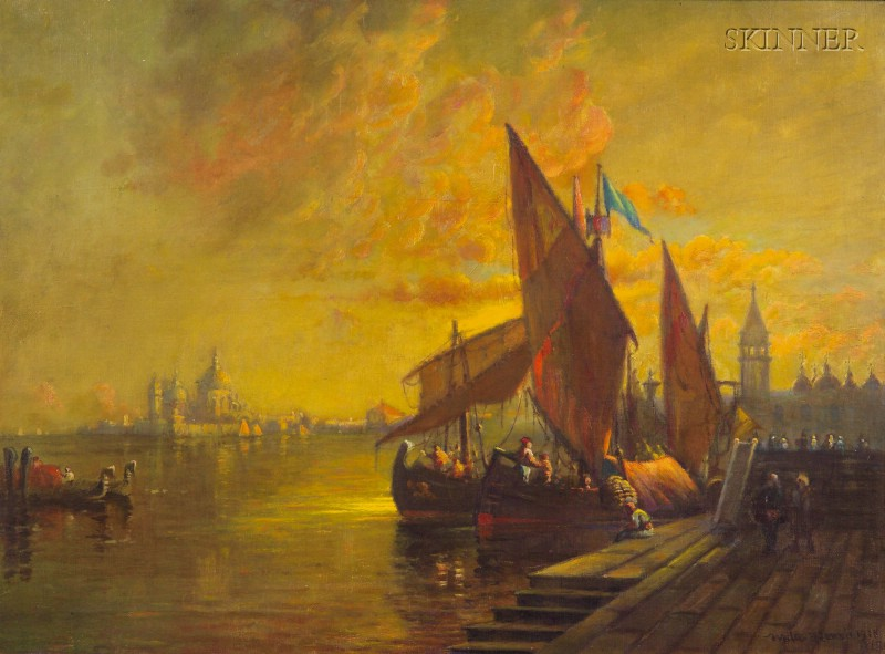 Walter Franklin Lansil  (American, 1846-1925)      Late Afternoon, Venice
