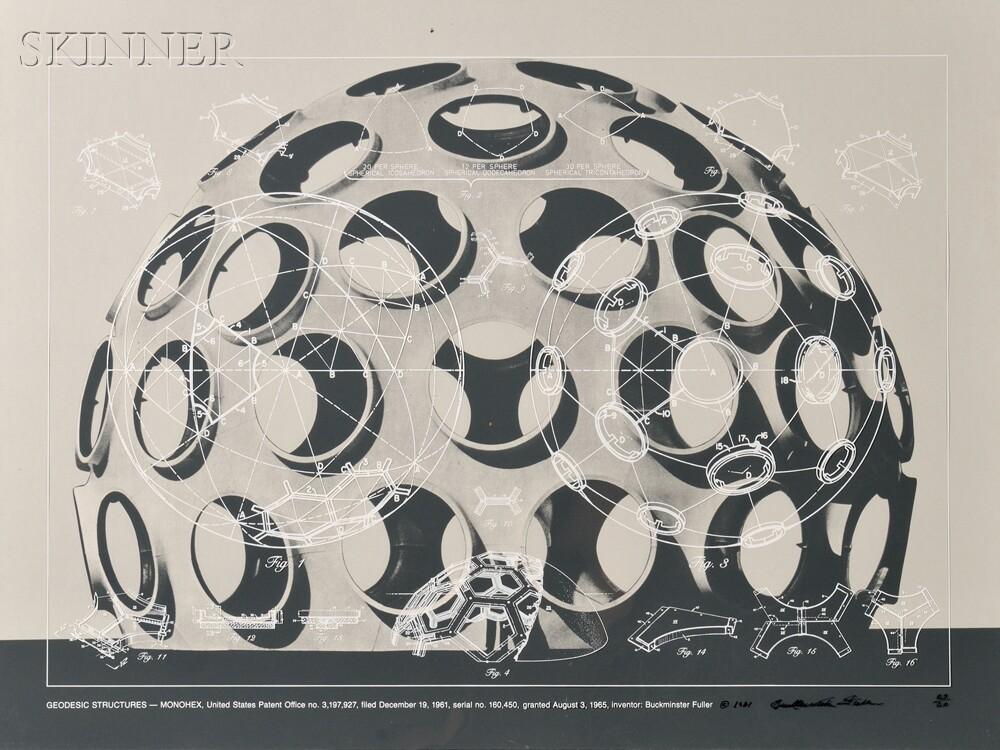 Buckminster Fuller (American, 1895-1983)      Geodesic Structures - Monohex