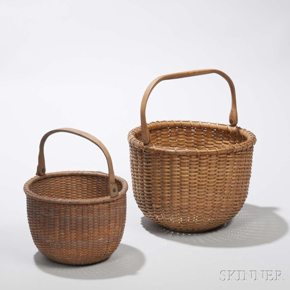 Two Nantucket Lightship Baskets