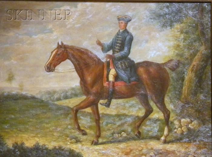 British School, 19th/20th Century      Gentleman on Horseback.