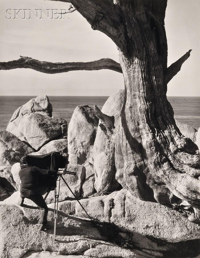 Willard Van Dyke (American, 1906-1986)      Edward Weston at Work, Point Lobos