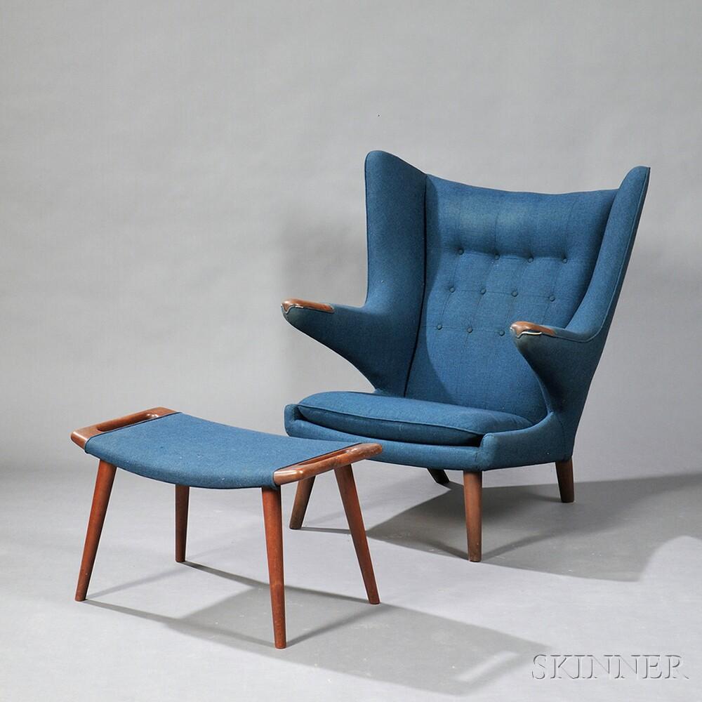 Hans Wegner (1914 2007) Papa Bear Chair And Ottoman