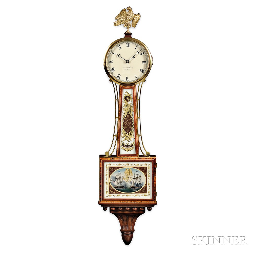 "Mahogany Patent Timepiece or ""Banjo"" Clock by Foster Campos"