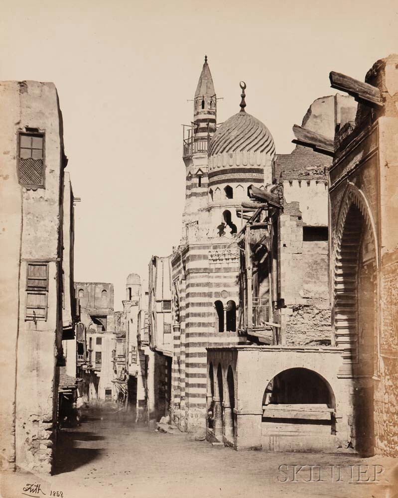 Francis Frith (British, 1822-1898)      Street View in Cairo